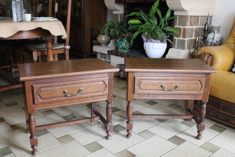 2 - Chevets ( tables de nuit ) avec tiroir Rustiques , Hêtre 90 Charleville-Mézières (08)
