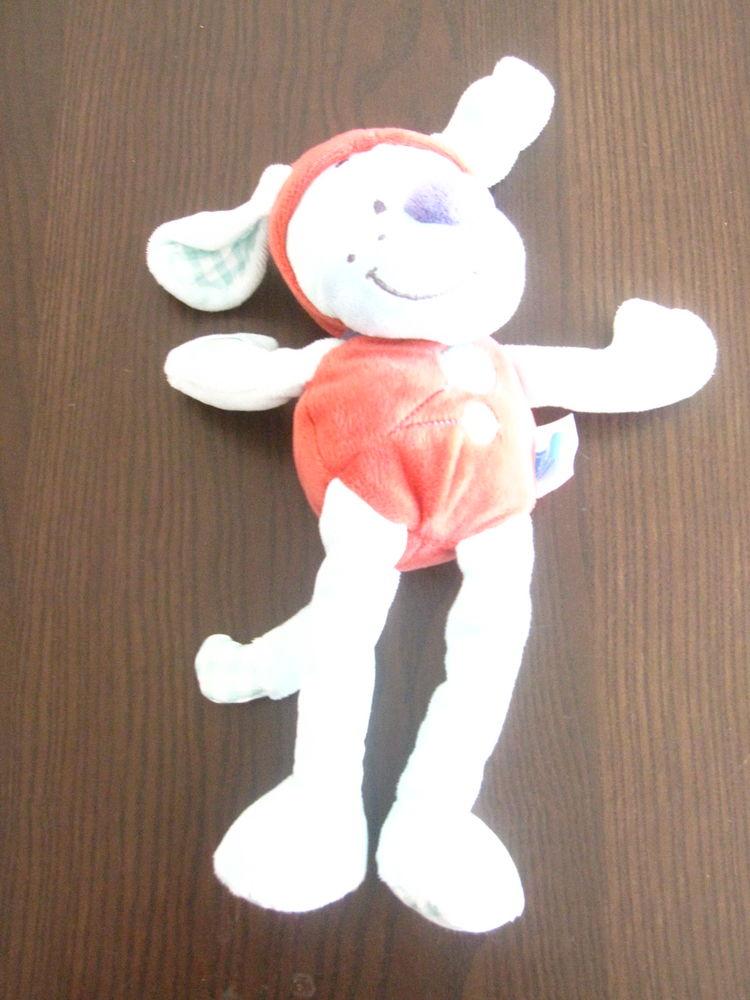 CHien baby tex rouge et bleu 30cm Jeux / jouets