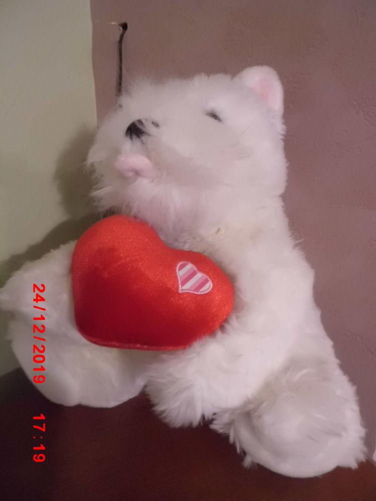 chien blanc avec coeur rouge keel toys 16 Oignies (62)