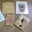 Choix art Egypte Papyrus et tablettes hiéroglyphes