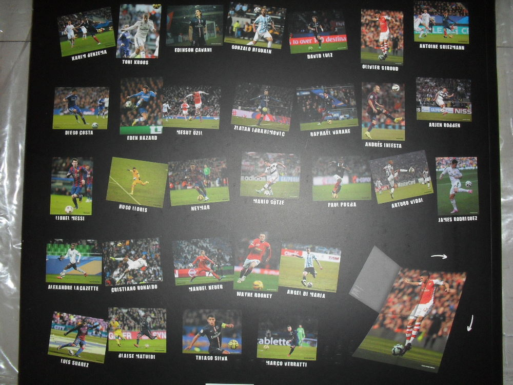 Choix 30 posters affiches star football 80 x 60 cm 4 Toul (54)