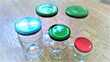 Choix de 70 Pots en verres vides divers. Paris 14 (75)