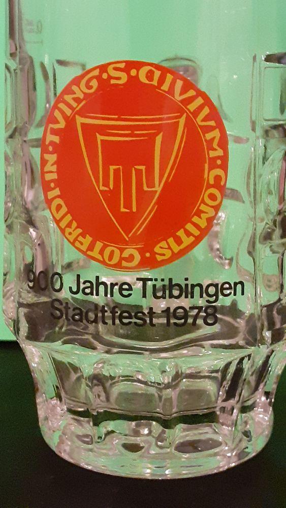 Une chope en verre  Tübingen Stadtfest  1978 30 Lamotte-Beuvron (41)