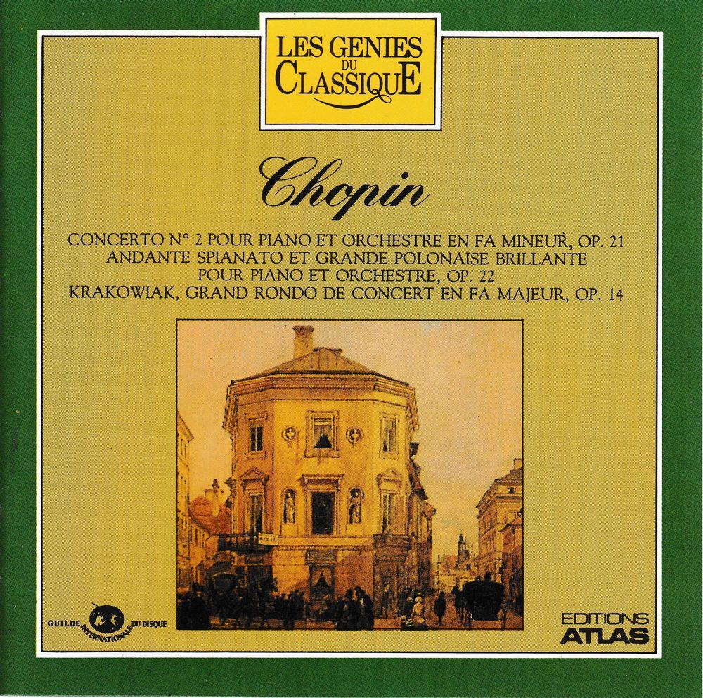 CD Chopin Concerto N°2, Andante Spianato Polonais, Krakowiak 4 Bagnolet (93)