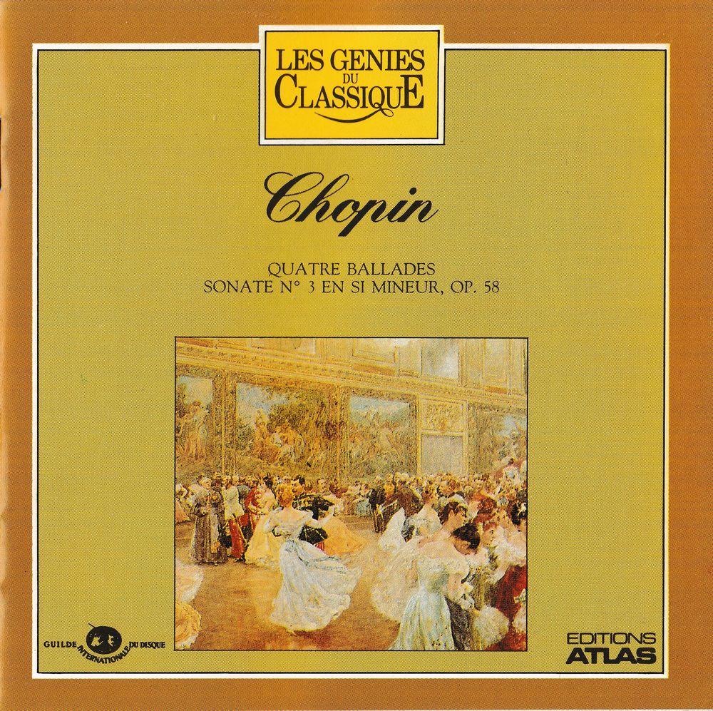 CD   Chopin   Quatre Balades,   Sonate N° 3 4 Bagnolet (93)