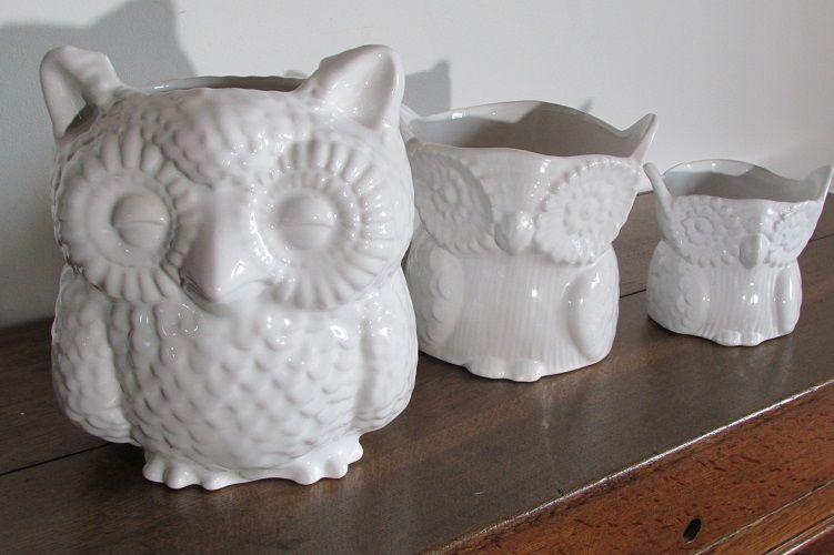 Lot de 3 chouettes en céramiques, cache-pots hibou 45 Paris 6 (75)