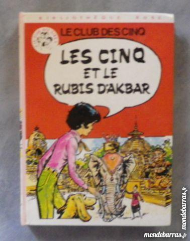 LES CINQ ET LE RUBIS D'AKBAR BIBLIO ROSE 1981 3 Attainville (95)