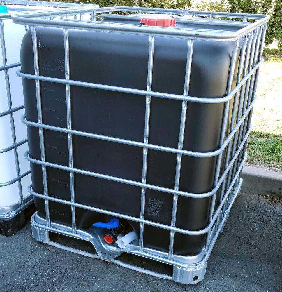 Citerne recuperateur d'eau  noir 1000 litres  Cuve IBC  NEUF  JAMAIS UTILISER SOUS ETIQUETTE ENCORE 100 Lens (62)