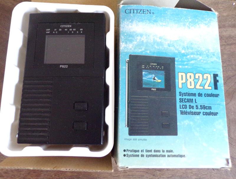 Citizen pocket LCD Colour TV P822F analogue TV  40 Laval (53)