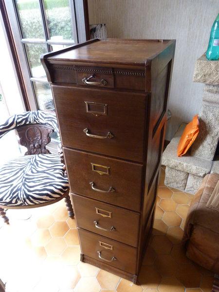 Achetez classeur bois 1930 occasion annonce vente brest for Meuble classeur ancien