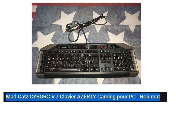 clavier azerty gaming pc Mad Catz cyborg V.7 25 Narbonne (11)