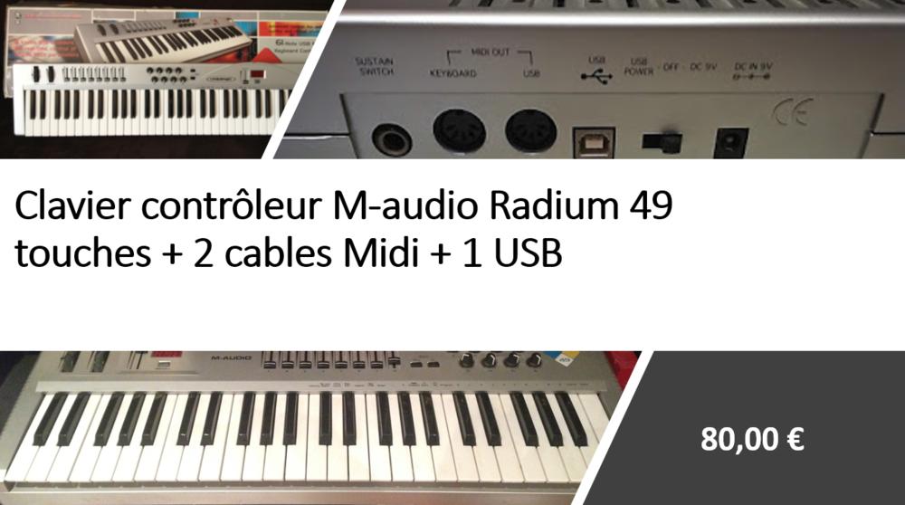 Clavier contrôleur M audio radium 49 touches 70 Ambilly (74)