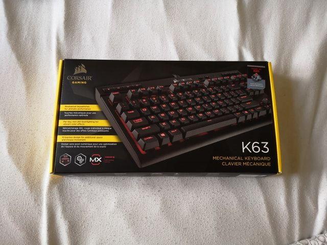 Clavier Corsair K63 switch MX RED Matériel informatique