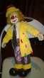 Clown Auguste  En porcelaine  Excellent etat 51 cm de hau Occasion Décoration