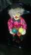Clown musical Articule en porcelaine