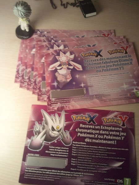 Codes Pokémon Officiels Nintendo 15 Viry-Châtillon (91)