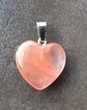 coeur pierre cornaline sur bélière en acier