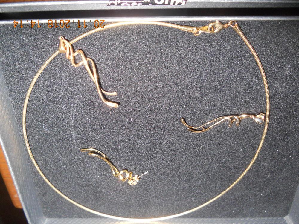 coffret avec pendentif & boucles assorties en plaqué or 15 Ervy-le-Châtel (10)