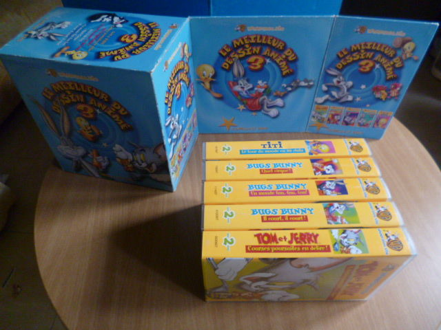 coffret de 5 cassettes vidéo - dessins animés Warner  Bros  5 Martigues (13)