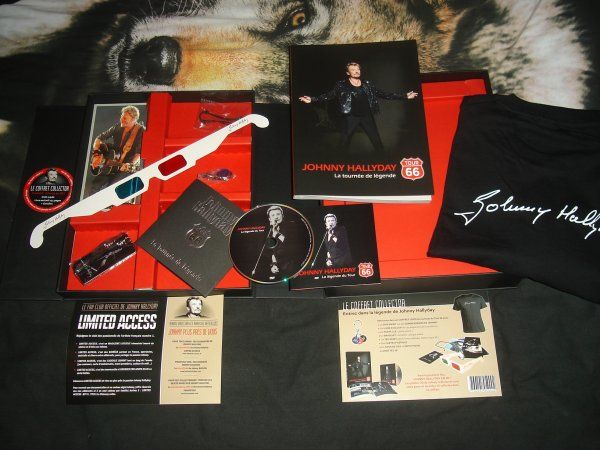 COFFRET COLLECTOR JOHNNY HALLYDAY TOUR 66