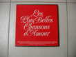 Coffret de 4 disques 33T   Les plus belles chansons d'amour  Le Vernois (39)