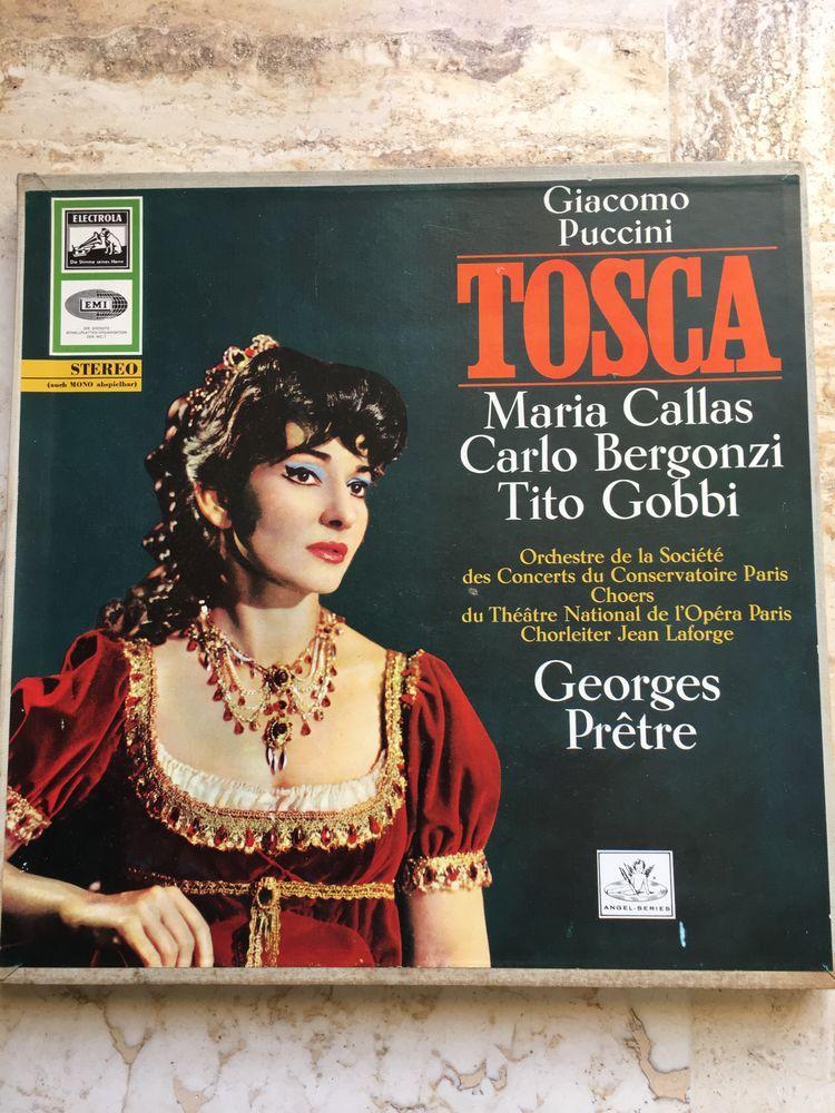 COFFRET 2 disques Vinyles TOSCA - PUCCINI- Maria CALLAS- Geo 25 Blaye (33)