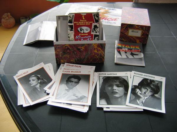Coffret de 138 fiches de Stars de toujours... 40 Le Vernois (39)