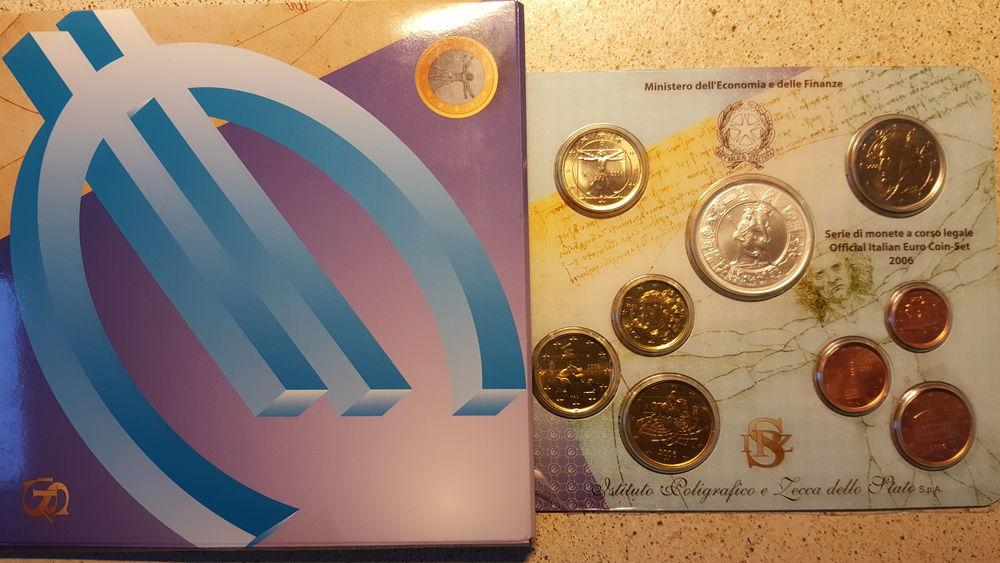 Coffret BU Italie 2006  8 piéces  1 + pièces 5 euros argent  45 Sansan (32)