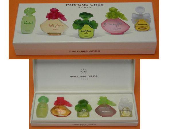 Coffret de miniatures de PARFUMS GRES - PARIS 25 Mons-en-Barœul (59)