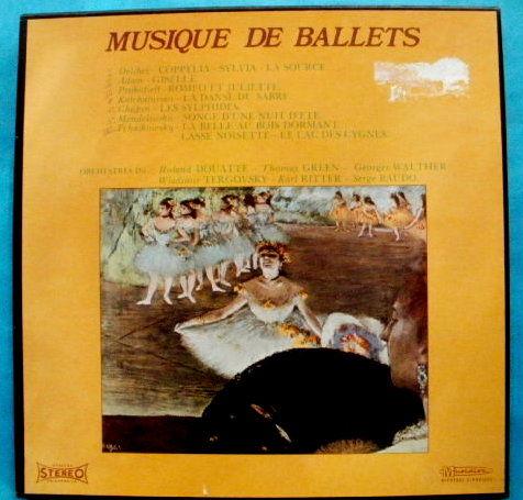 Coffret MUSIQUE DE BALLETS comprenant 4 disques 33 T 12 Montauban (82)