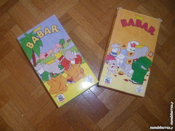 Lot de 2 coffrets de cassettes Babar (48) 4 Tours (37)