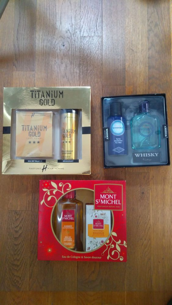 3 coffrets de parfums et deodorants