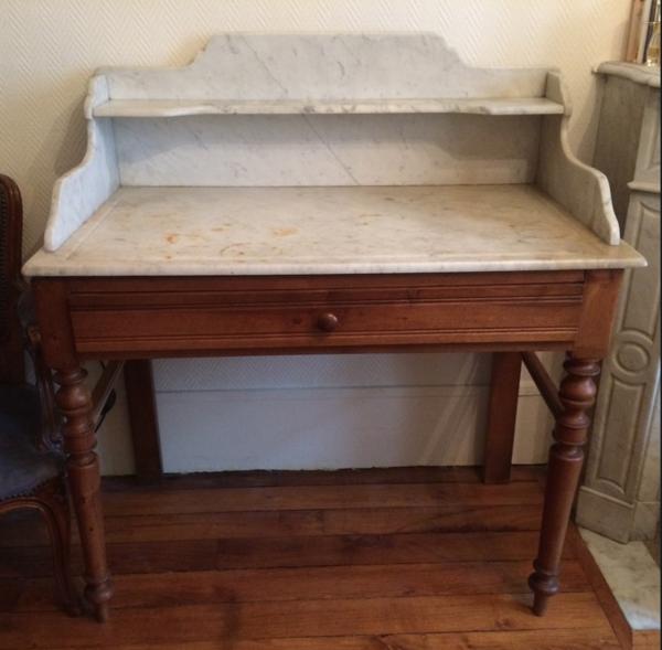 vente coiffeuse meuble ancien avec dessus de marbre