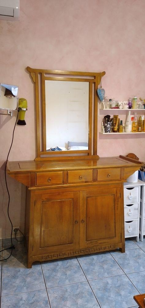 Coiffeuse bois massif avec miroir intégré 200 La Possession (97)