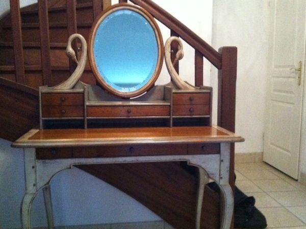 coiffeuse meuble ancien. Black Bedroom Furniture Sets. Home Design Ideas