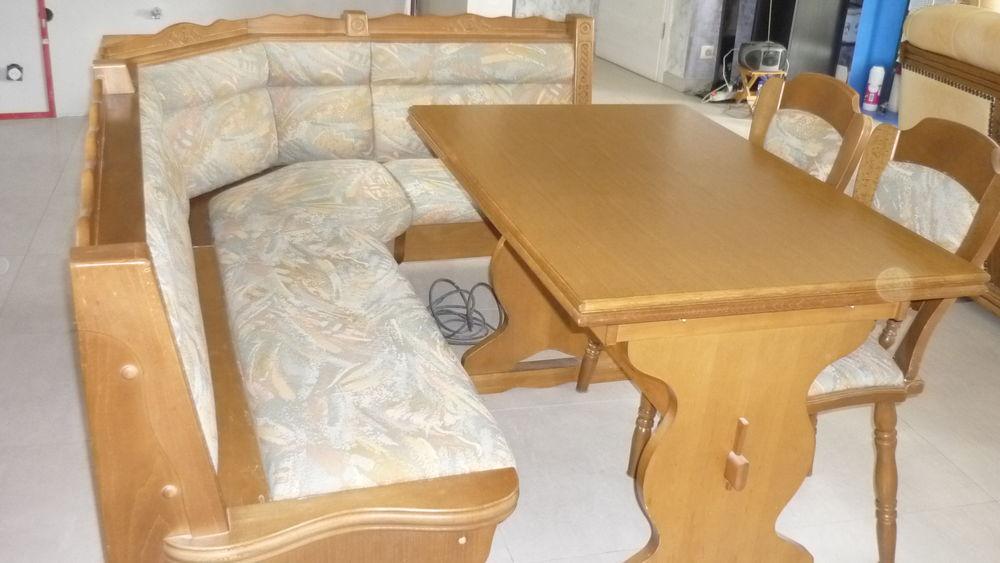 Ban de coin 2 coffres rangement bois hêtre table + 2 chaises 150 Masevaux (68)