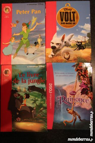 Lot 5 Collection Bibliotheque Rose Disney