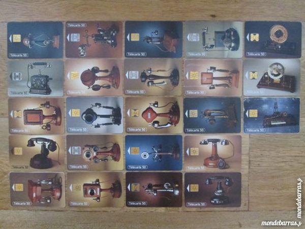 Collection complète de télécarte thème: téléphone 5 Nort-sur-Erdre (44)