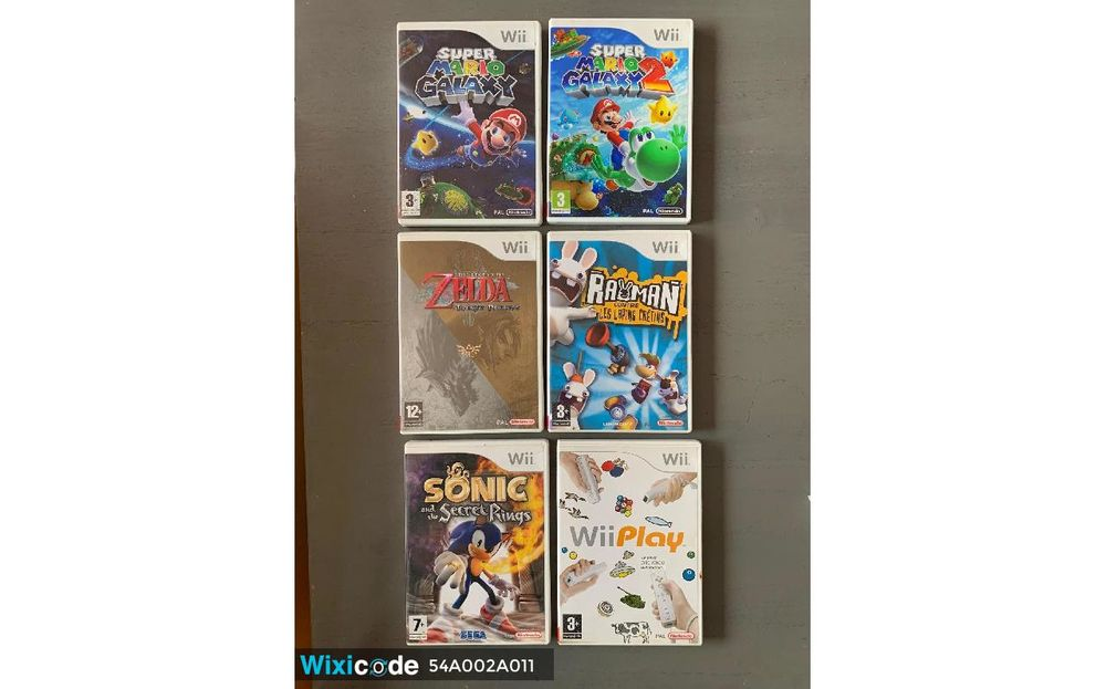 Collection de 6 jeux Wii 35 Pierrepont (54)