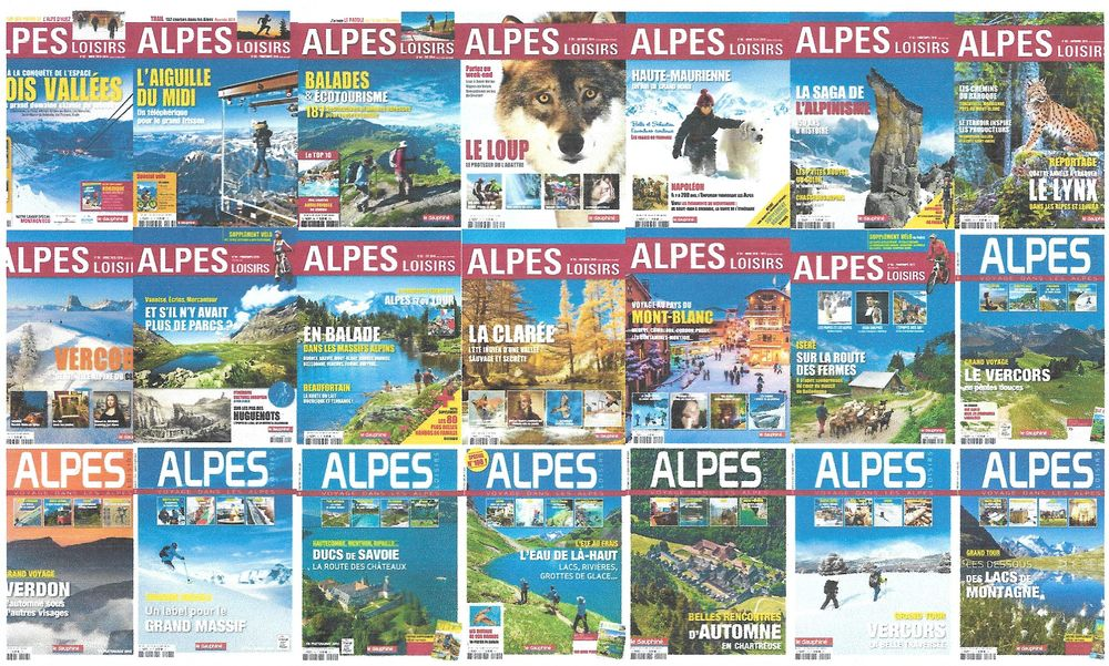 Collection Magazines ALPES-LOISIRS du n°31 au n°78 + n°H.Sér 0 Villeurbanne (69)