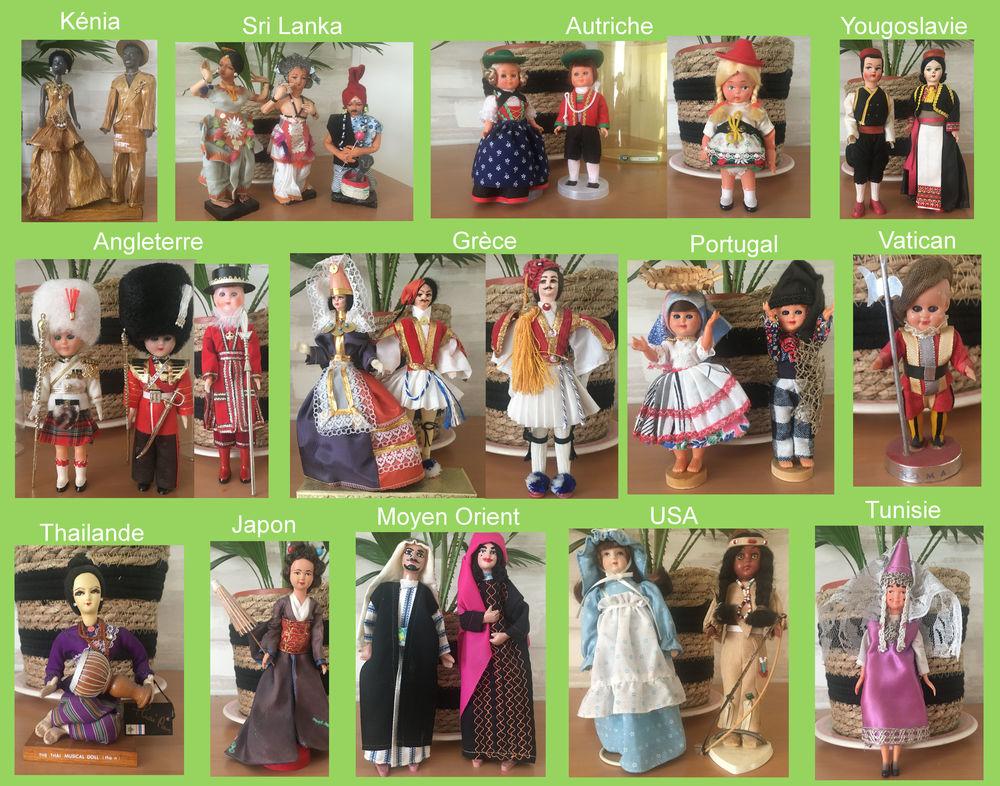 Collection poupées folkloriques pays étrangers 110 Villeurbanne (69)