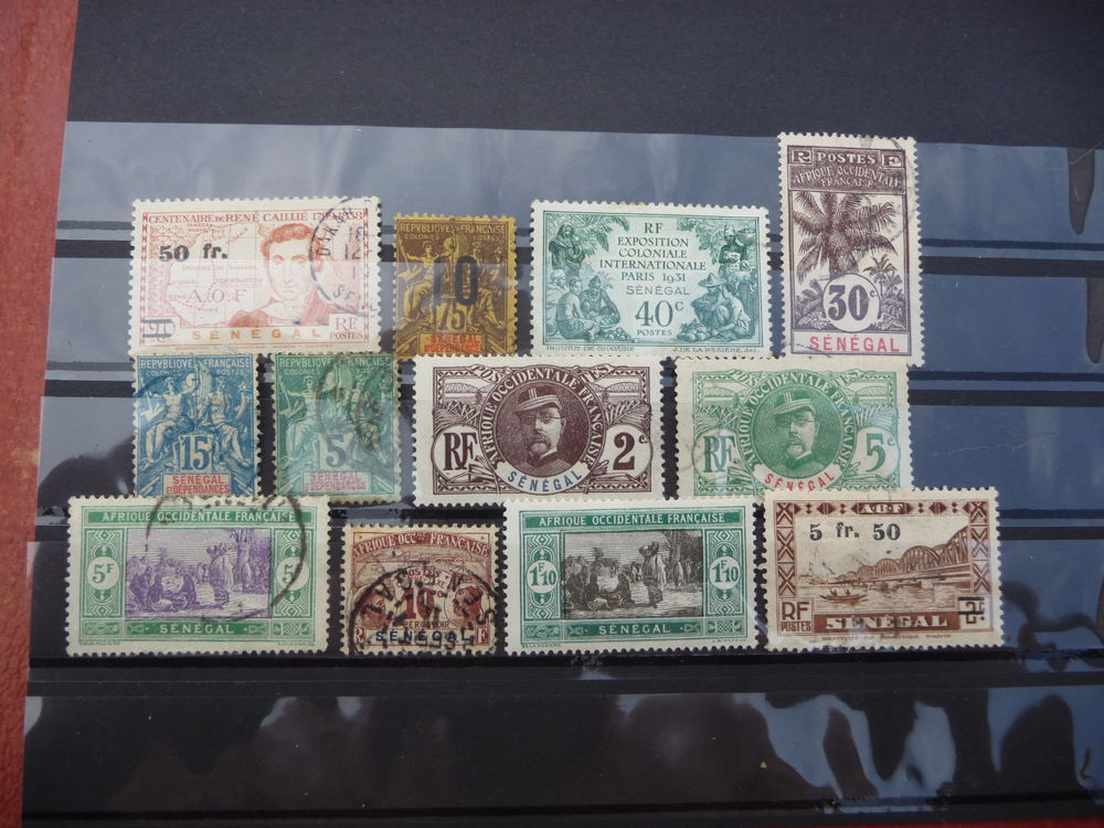 COLLECTION TIMBRES COLONIES FR SENEGAL COTE 50 EUROS N / OB