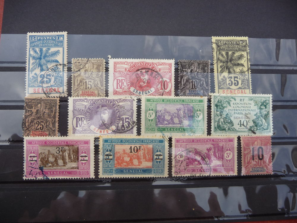 LOT COLLECTION TIMBRES SENEGAL COTE 50,00 EUROS NEUFS / OBLI
