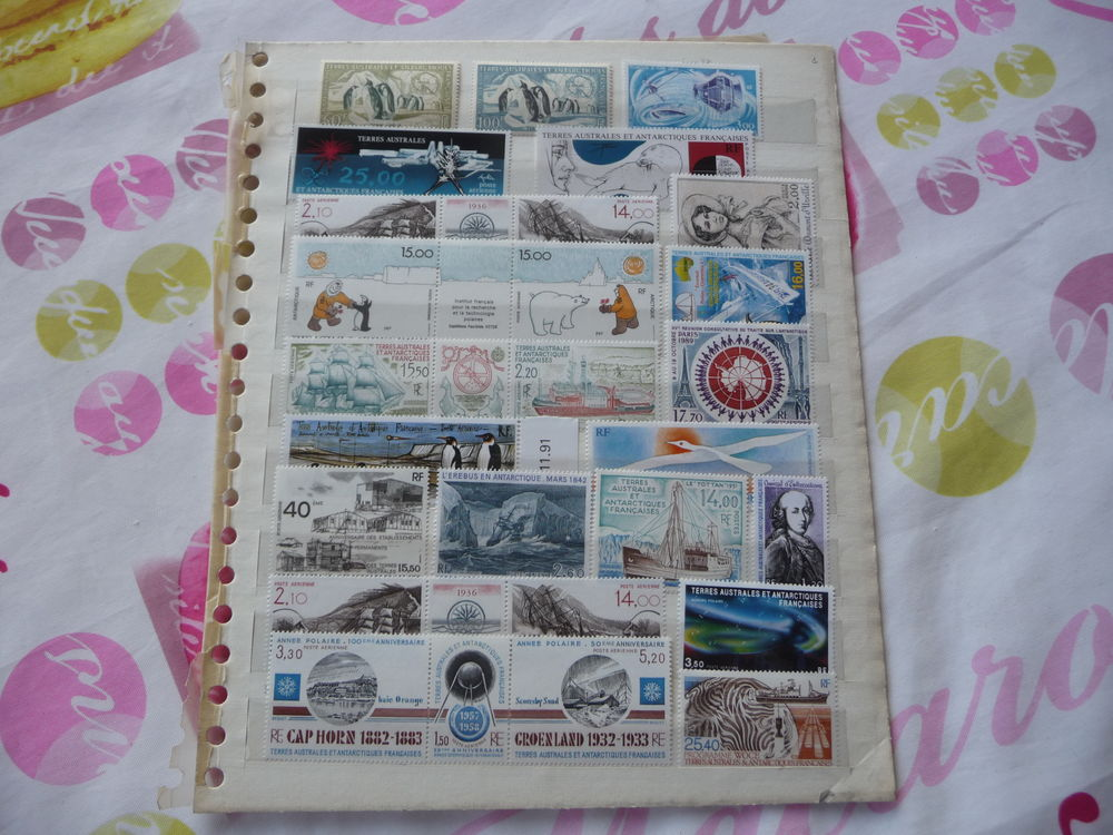 LOT  COLLECTION  TIMBRES  TAAF  ENORME  COTE  NEUFS** 55 Fabrègues (34)