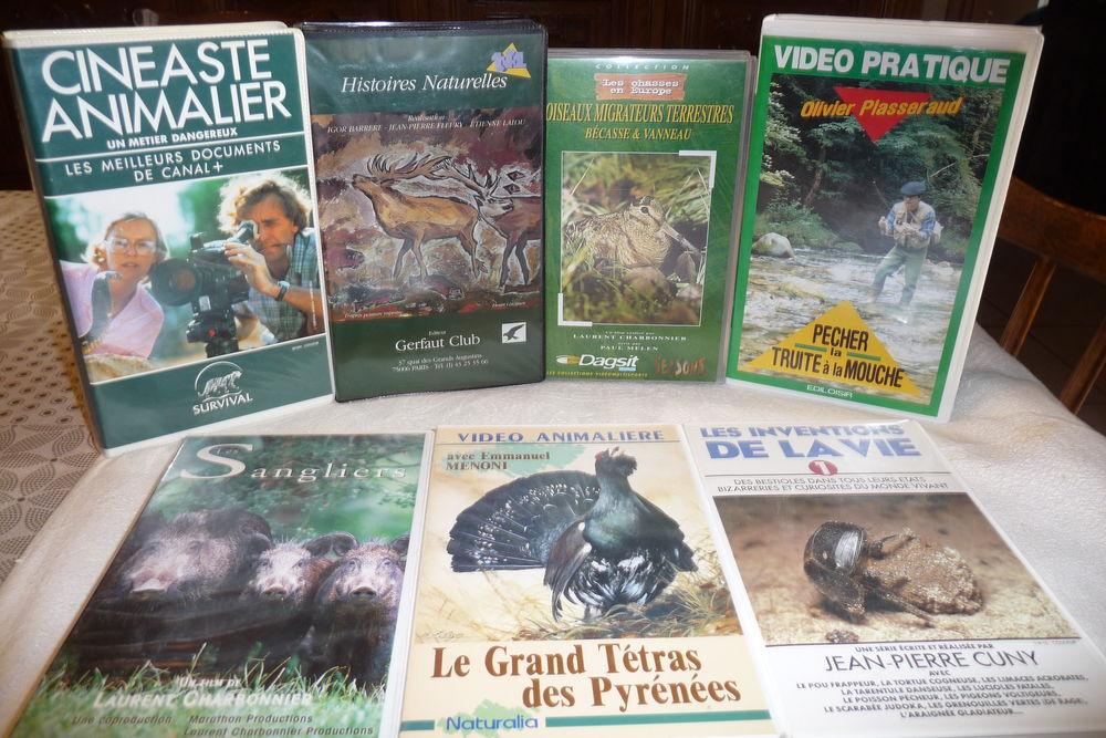 Collectionneur cède VHS-DVD (chasse, pêche, animaux) 4 Aubusson (23)