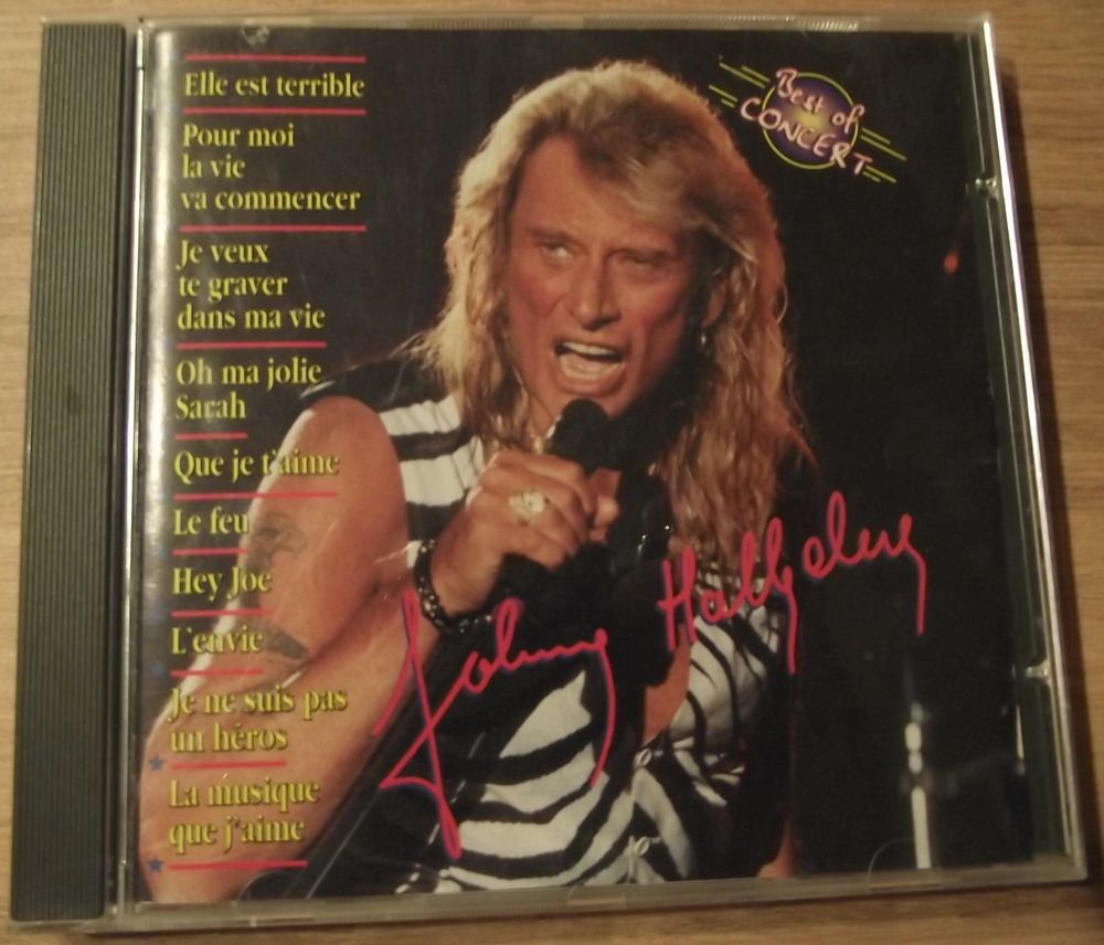 CD collector  Best  Of concert  Johnny  Hallyday 45 Migé (89)