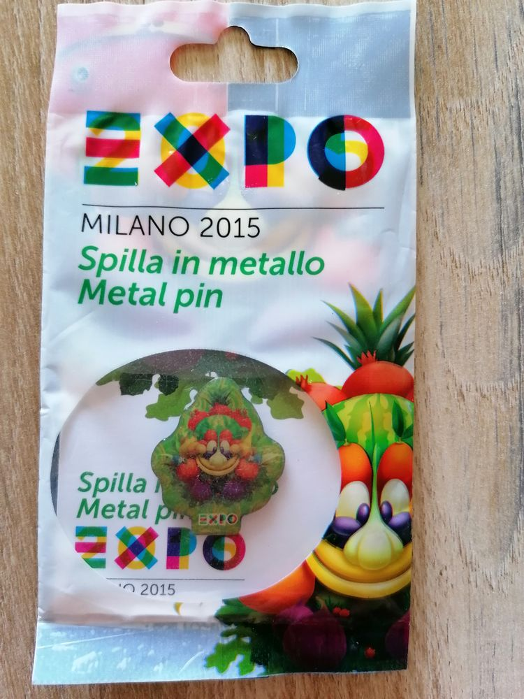 Pin's collector Foody mascotte exposition universelle Milan  20 Flines-lez-Raches (59)