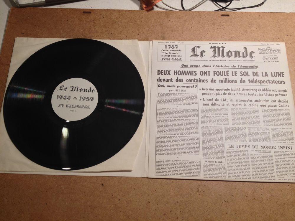 collector Rare Disque vinyle neuf du journal LE MONDE 1969 20 L'Isle-Adam (95)