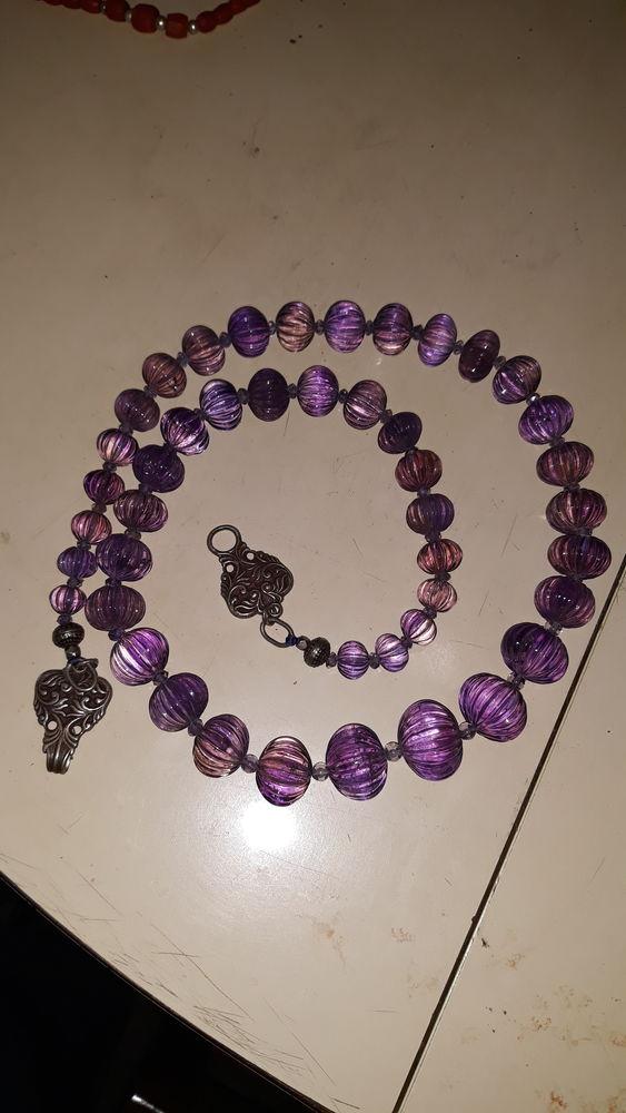 collier Améthyste poids 170g longueur 74cm perles 180 Rosselange (57)