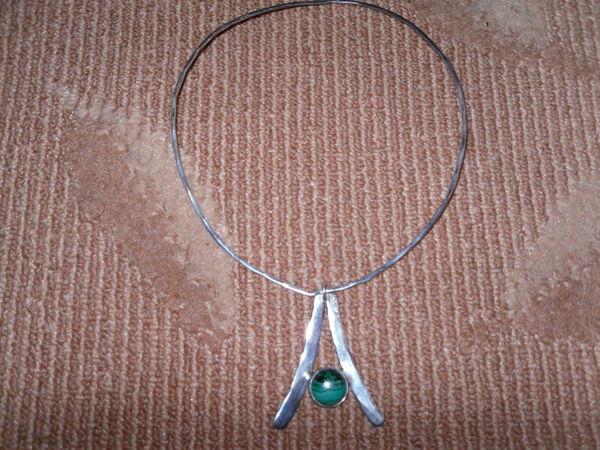 Collier en Argent 925, pendentif Turquoise TBE 55 Neuville-de-Poitou (86)